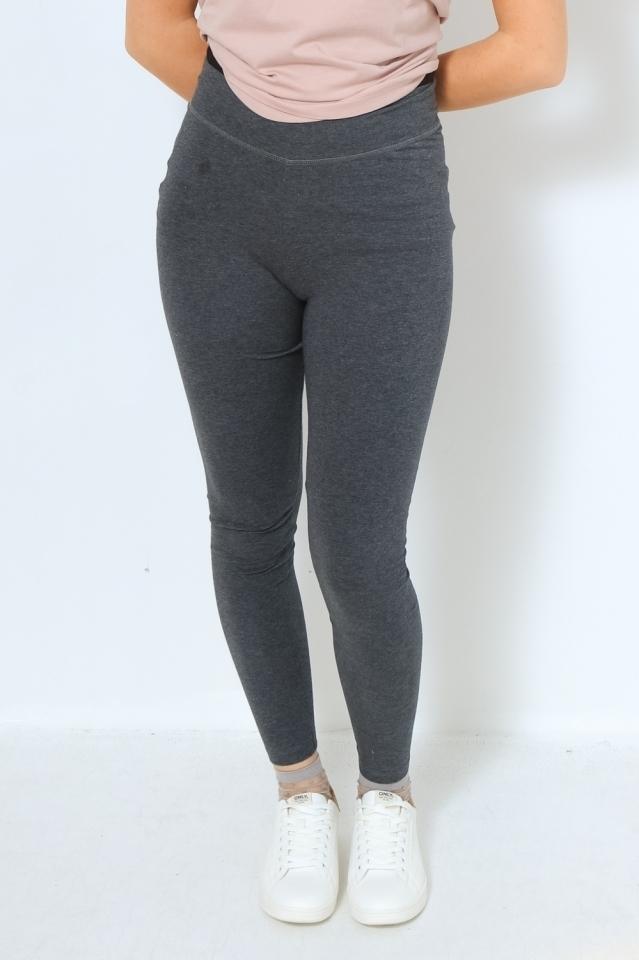 FARIBAA Hose Leggings Solid dark grey melange
