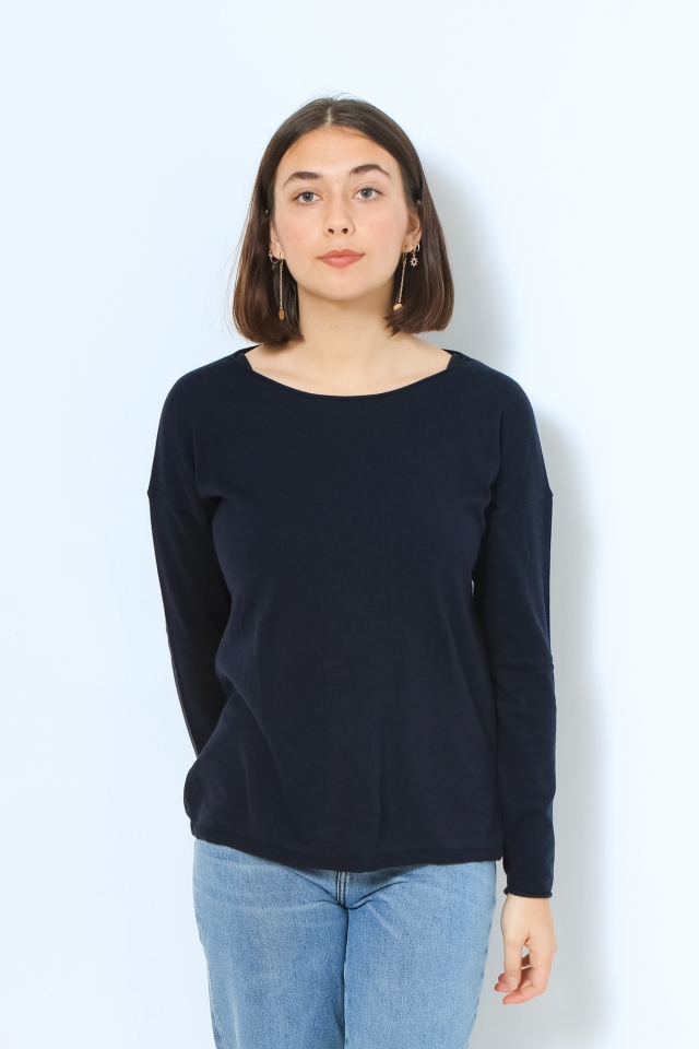 LADAA Strick Pullover Solid night sky