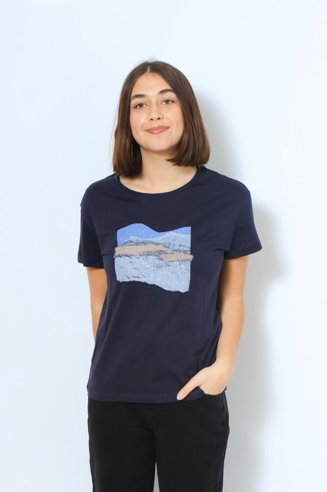 NELAA LANDSCAPE COLLAGE Shirts T-Shirt Print night sky