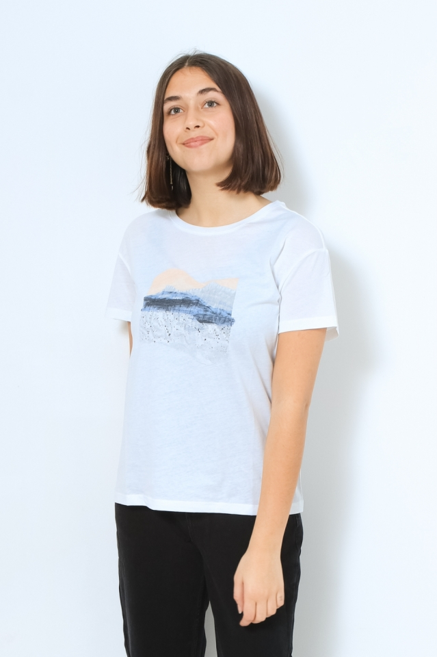 NELAA LANDSCAPE COLLAGE Shirts T-Shirt Print white