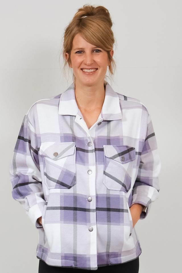 LS P JK Cathy lavender check