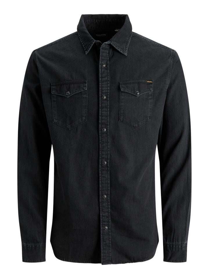 JJESHERIDAN SHIRT L/S NOOS Black Denim/Slim