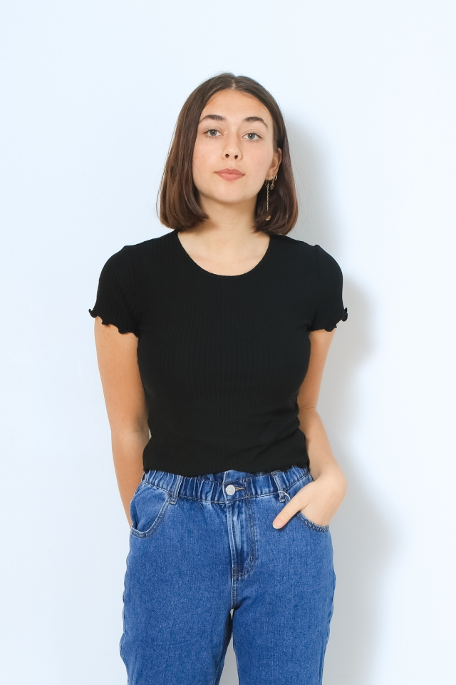 ONLEMMA S/S SHORT TOP NOOS JRS Black