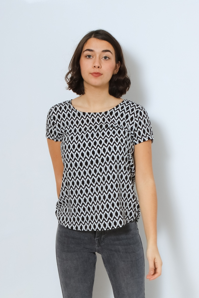ONLFIRST ONE LIFE SS AOP TOP NOOS W Black/GRAPHIC CIRCLE