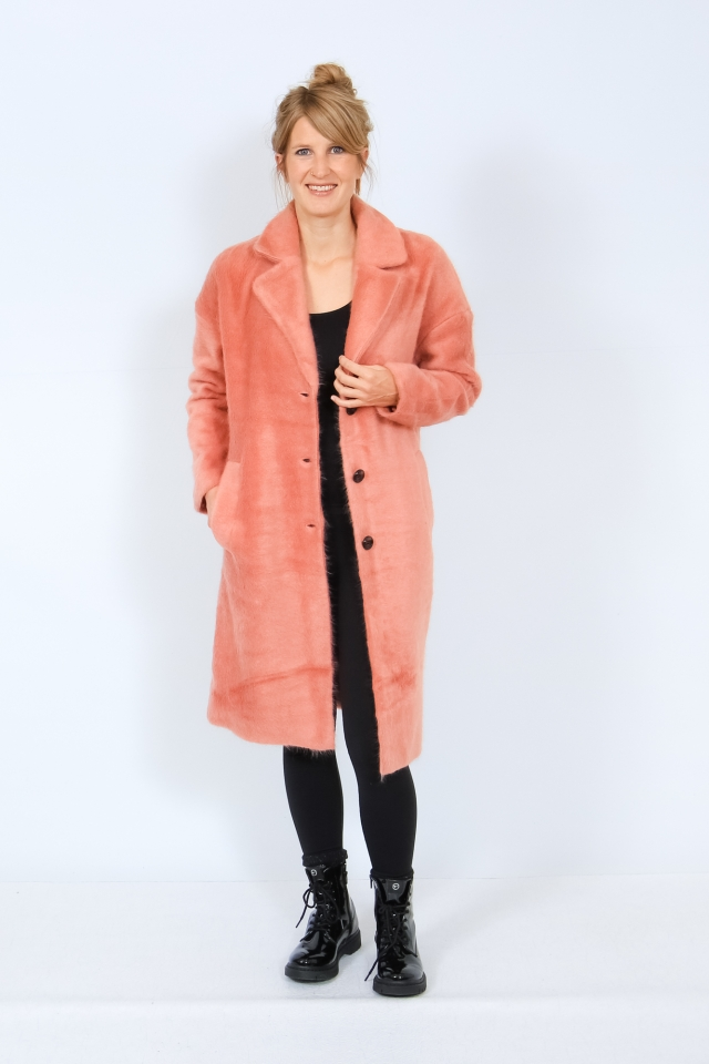 ONLLAYLA HAIRY LONG COAT OTW Desert Sand