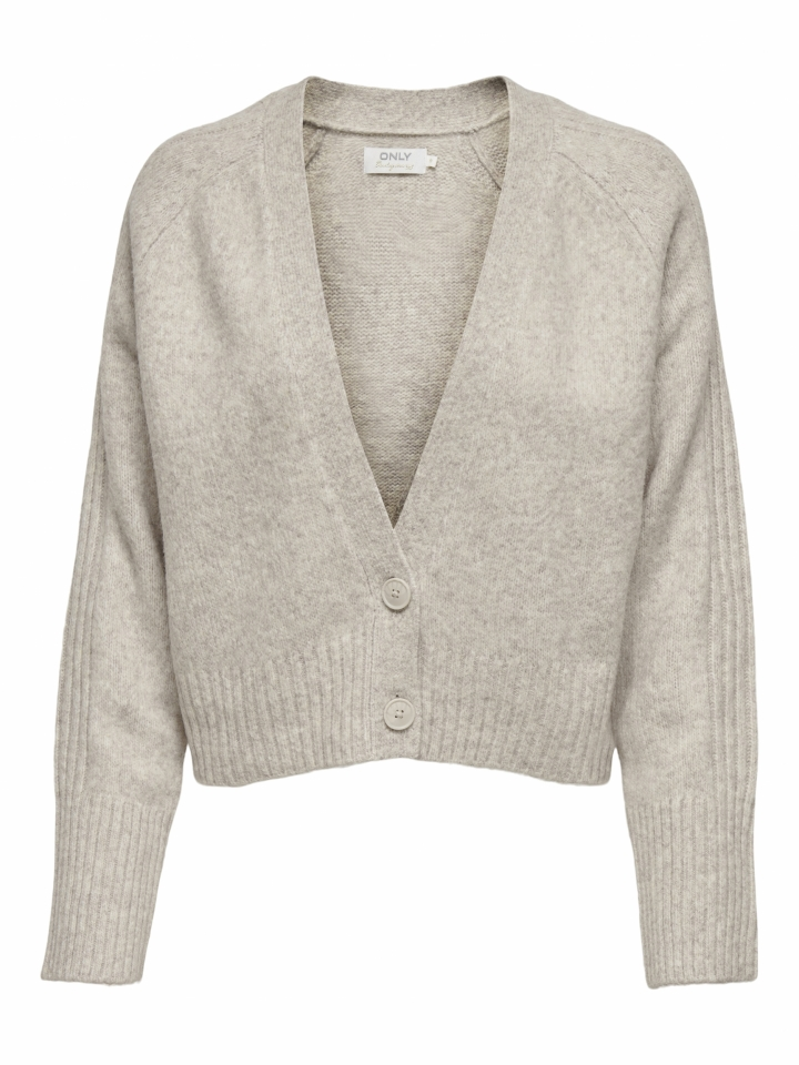 ONLMACADAMIA L/S CARDIGAN BF KNT Oatmeal/w. toasted coconut/faded de