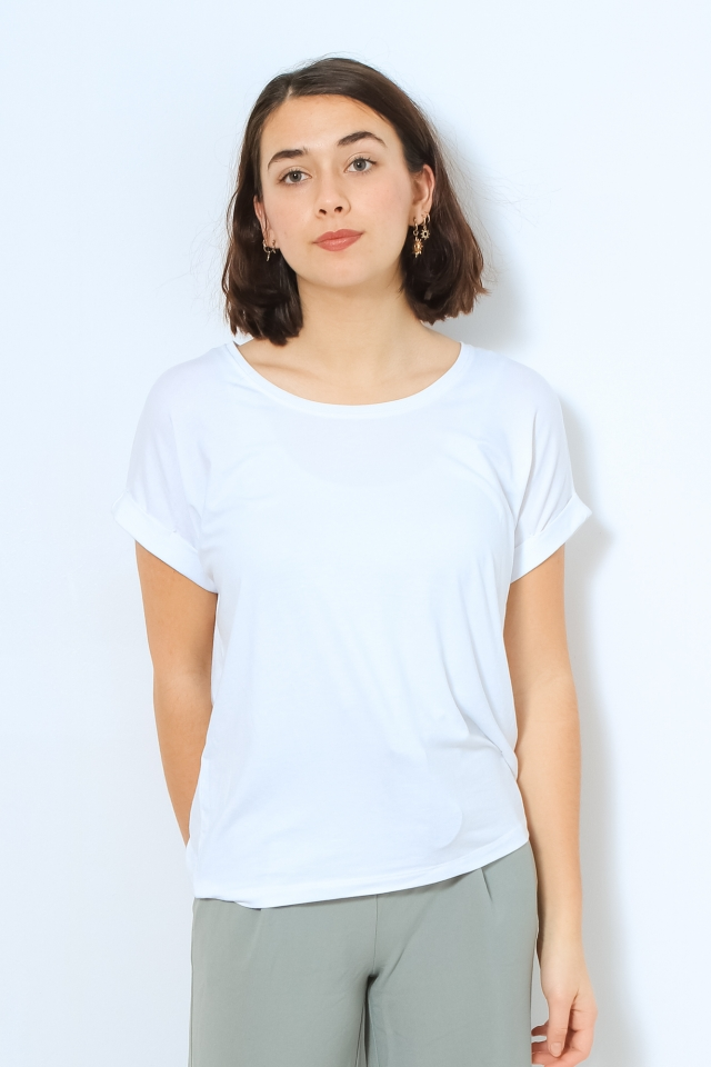 ONLMOSTER S/S O-NECK TOP NOOS JRS White