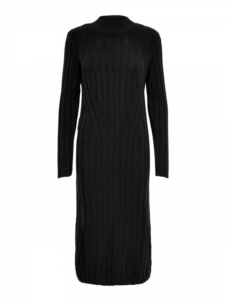 ONLNEW TESSA L/S O-NECK DRESS KNT Black