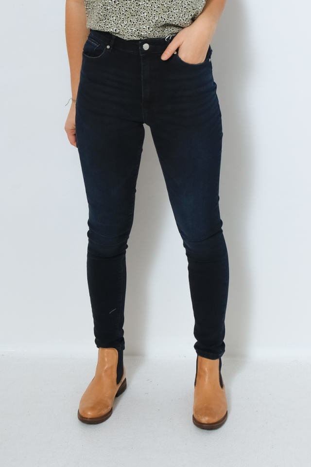 ONLPAOLA LIFE HW SKINNY BB AZ920 N Blue Black Denim