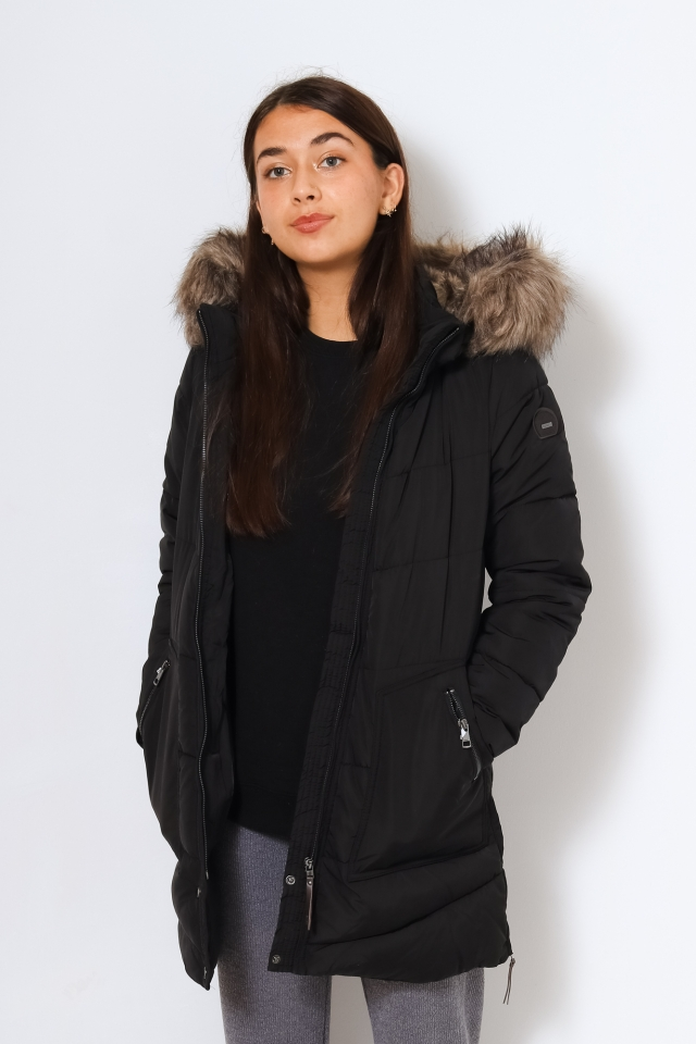 ONLROONA QUILTED COAT OTW Black