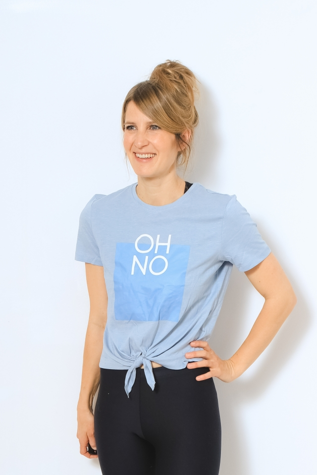 ONLSILLY LIFE S/S KNOT TOP BOX JRS Blue Fog/OH