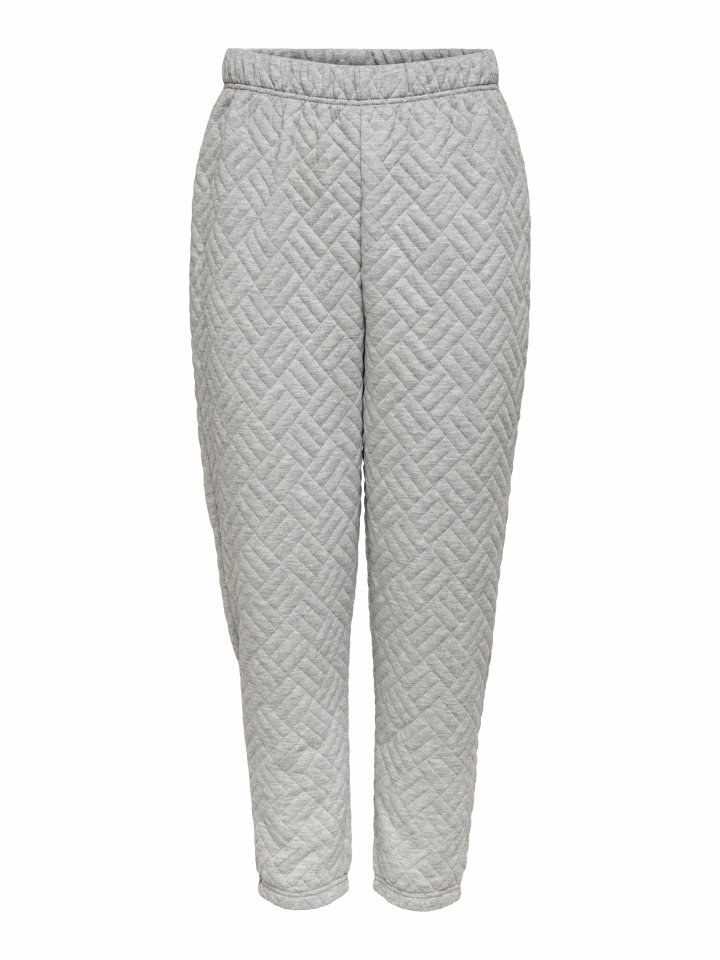 ONLSQUARE HIGHWAIST PANT CC SWT Light Grey Melange