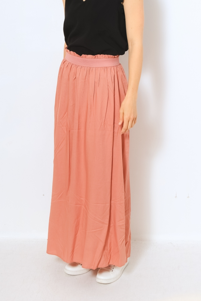 ONLVENEDIG LIFE LONG SKIRT WVN NOOS Ash Rose