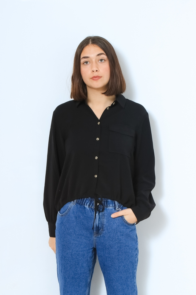 PCGRAYSON LS SHIRT Black