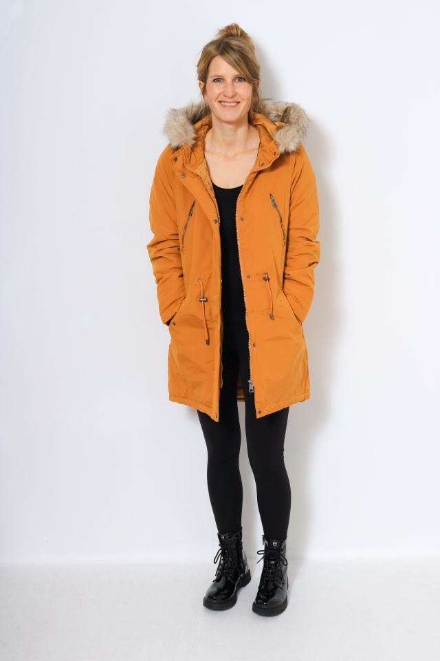 VMAGNESBEA 3/4 PARKA Buckthorn Brown