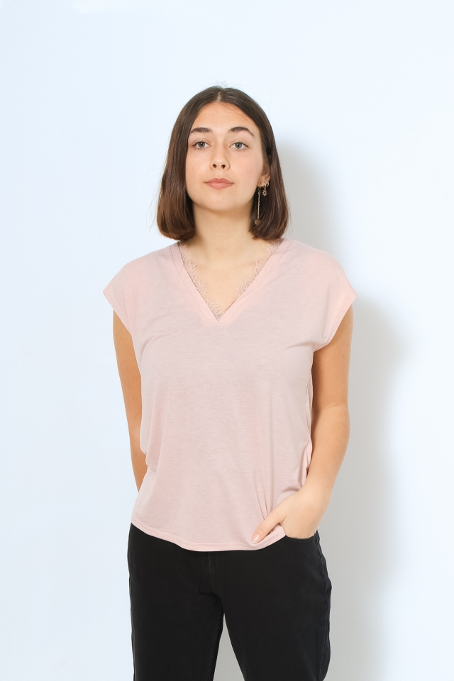 VMCARRIE SS TOP JRS VO Sepia Rose