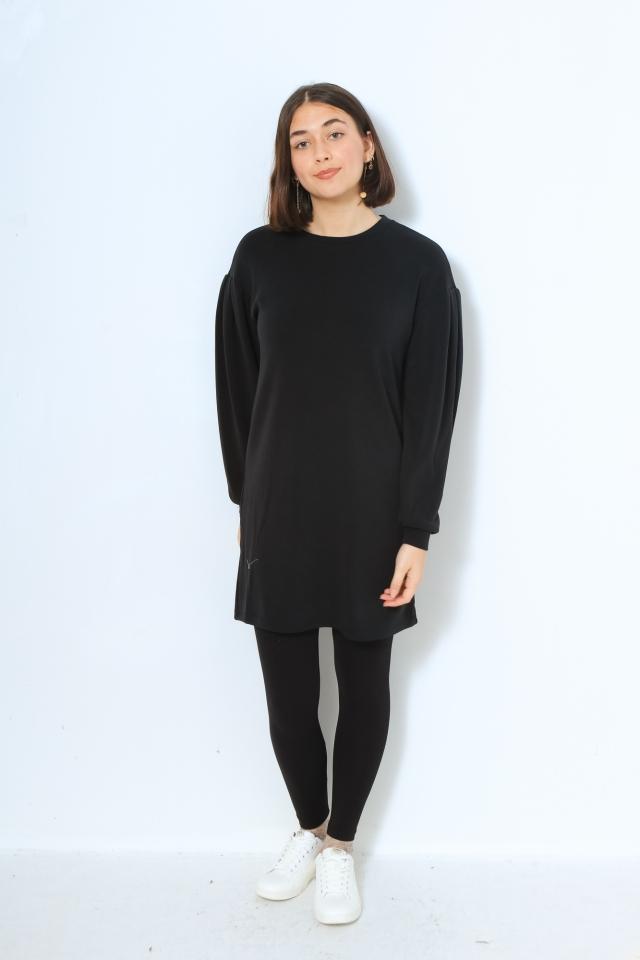 VMENA LS SWEAT DRESS JRS GA Black