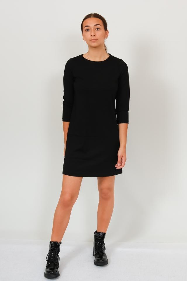 VMEVA 3/4 SLEEVE SHORT DRESS GA NOO Black