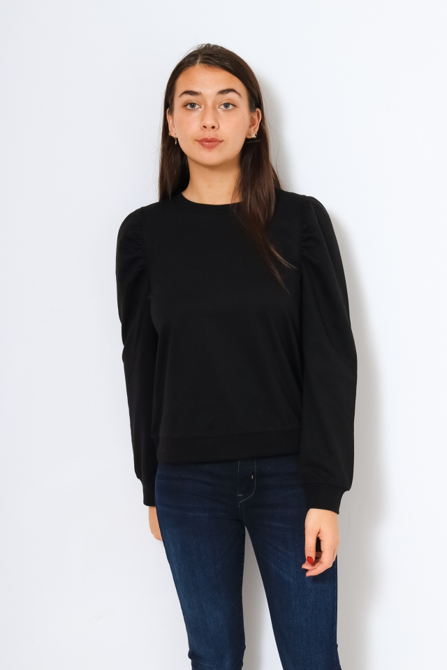 VIARALYN L/S PUFF SWEAT TOP/L Black