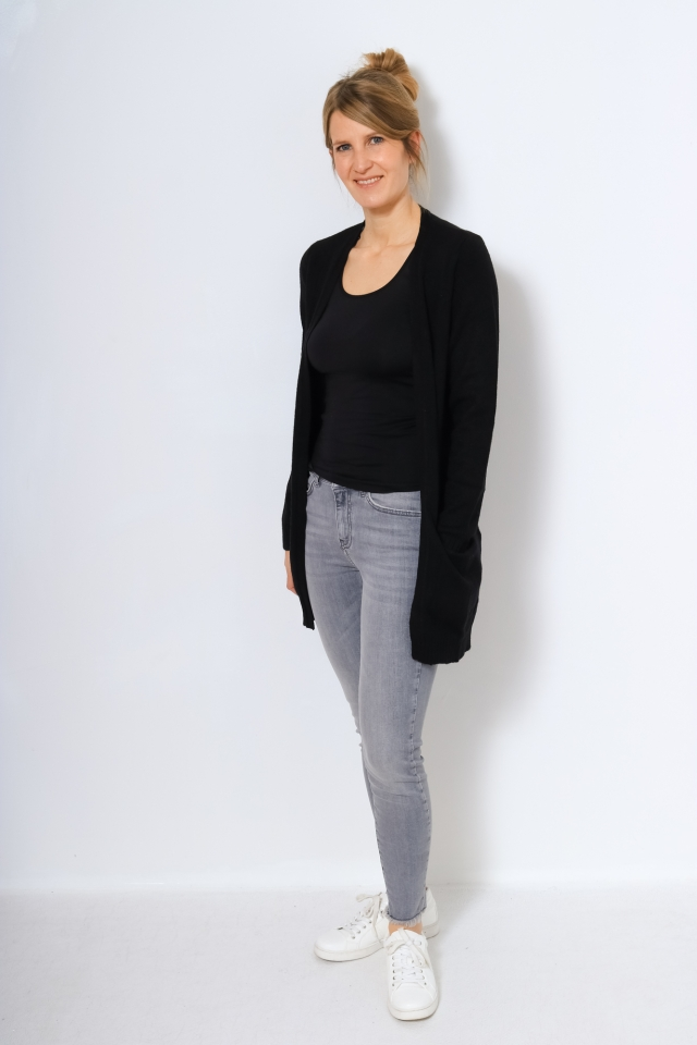 VIRIL OPEN L/S KNIT CARDIGAN - NOOS Black