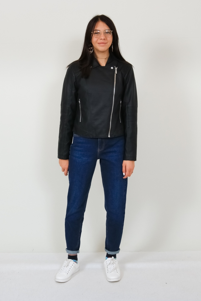 YASSOPHIE LEATHER JACKET NOOS Black