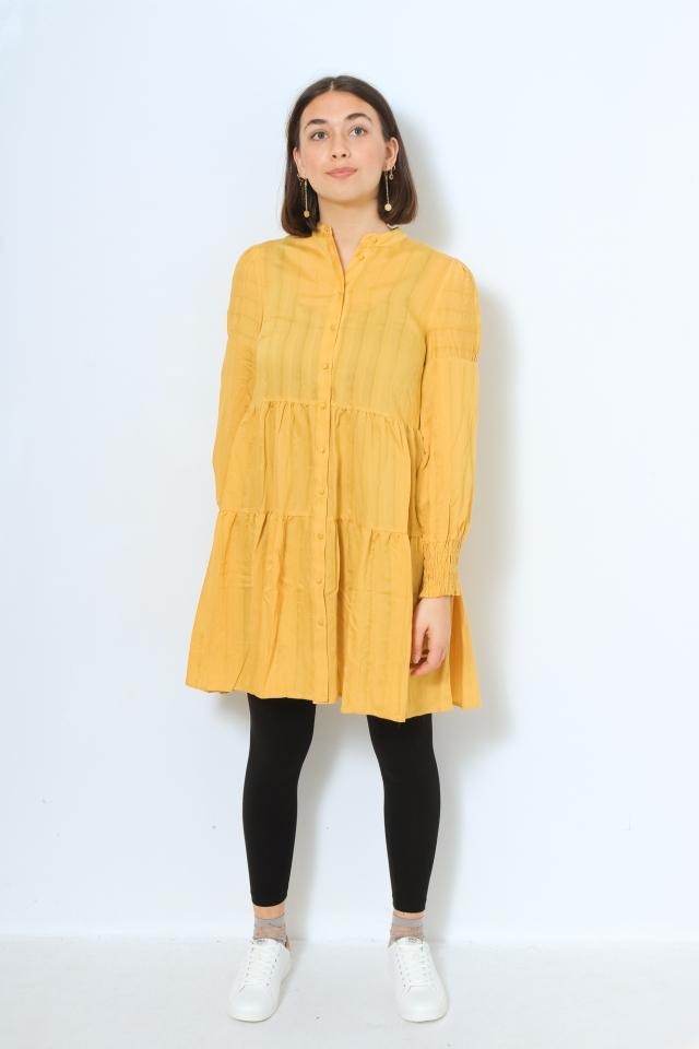 YASSUN LS SHIRT DRESS Ceylon Yellow