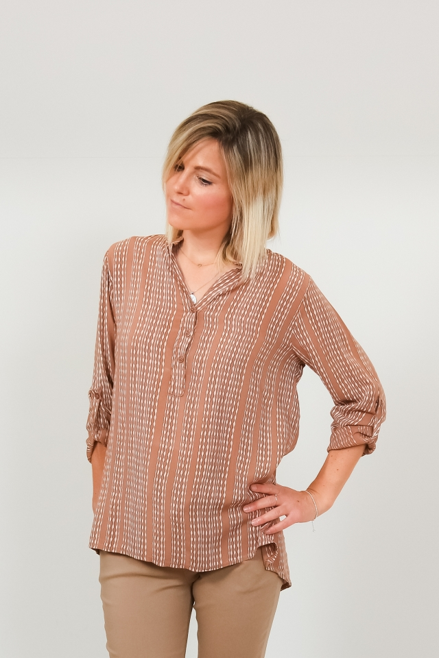 Blouse Louise tobacco