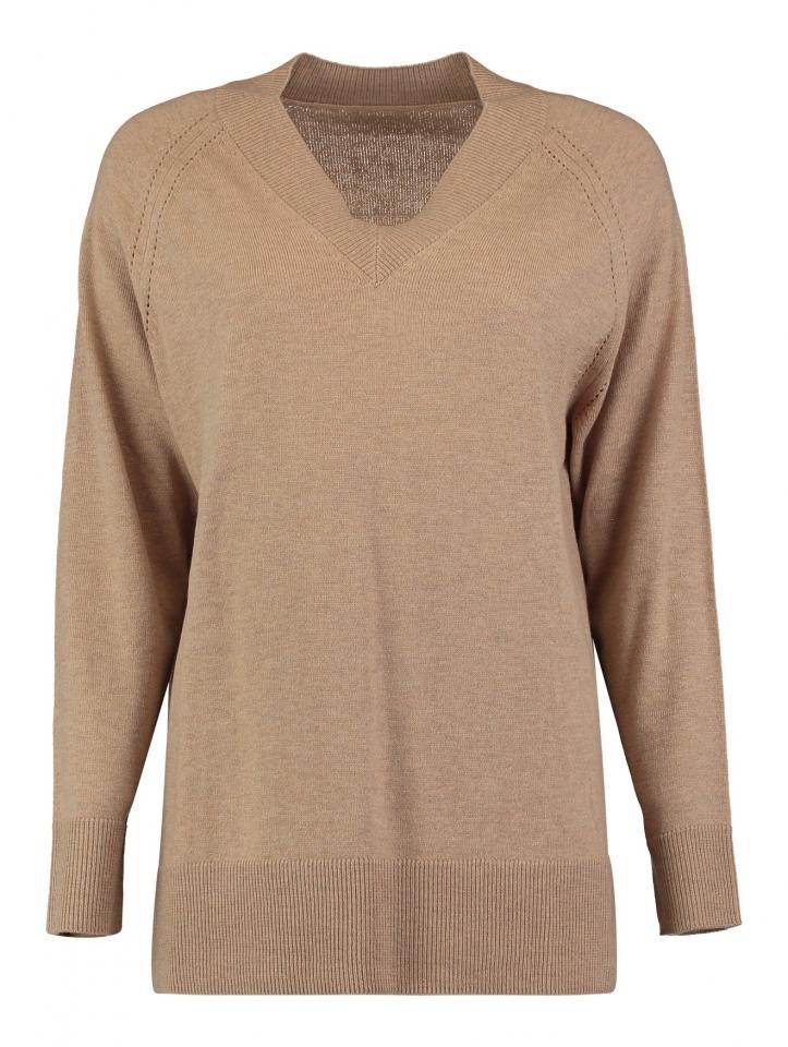 Modell: Pullover Violet beige melange